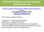 bus 310 study successful learning bus310study com 6