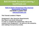 bus 315 rank successful learning bus315rank com 12