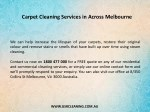 carpet cleaning services in across melbourne 1