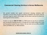 commercial cleaning services in across melbourne 1
