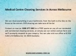 medical centre cleaning services in across 1