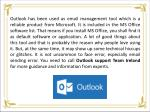 outlook has been used as email management tool