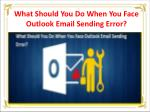 what should you do when you face outlook email sending error