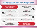 healthy snack bars for weight loss