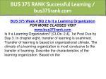 bus 375 rank successful learning bus375rank com 12