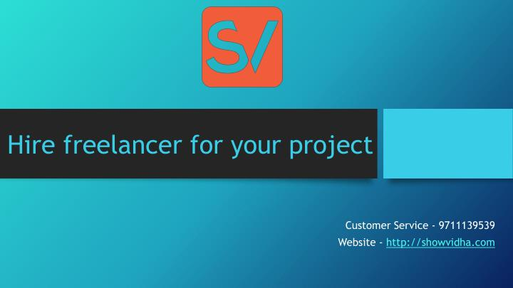 hire freelancer for your project n.
