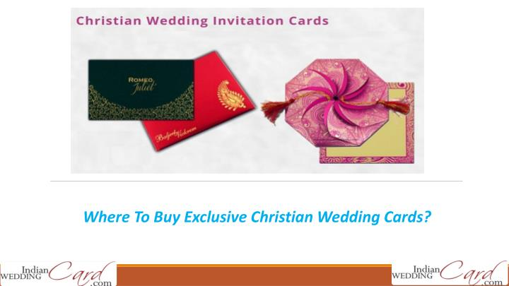 where to buy exclusive christian wedding cards n.