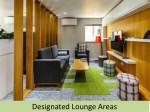 designated lounge areas