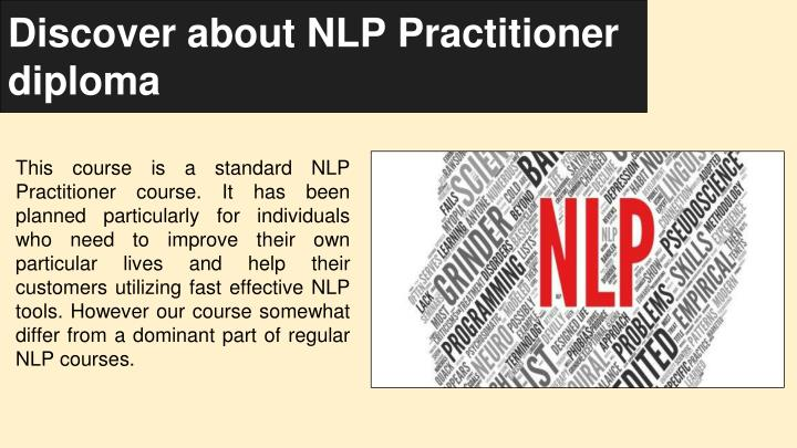 discover about nlp practitioner diploma n.