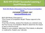bus 499 study successful learning bus499study com 9