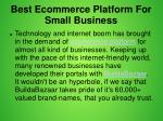best ecommerce platform for small business 1