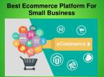 best ecommerce platform for small business 2