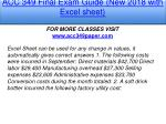 acc 349 final exam guide new 2018 with excel sheet