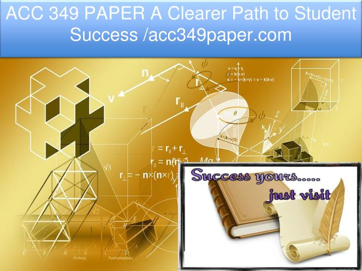 acc 349 paper a clearer path to student success n.