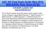 acc 422 final exam guide new 2018 with excel file
