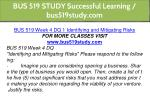 bus 519 study successful learning bus519study com 10
