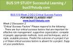 bus 519 study successful learning bus519study com 5