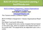 bus 519 study successful learning bus519study com 6