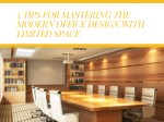5 tips for mastering the modern office design
