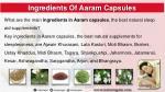ingredients of aaram capsules