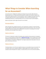 what things to consider when searching