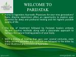 welcome to parijatak