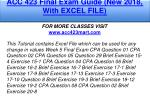 acc 423 final exam guide new 2018 with excel file