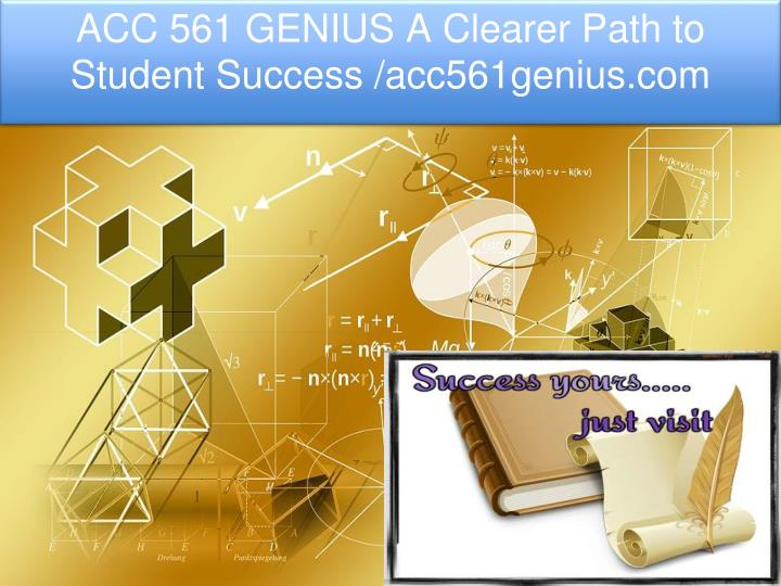 acc 561 genius a clearer path to student success n.