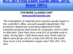 acc 561 final exam guide new 2018 score 100