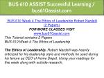 bus 610 assist successful learning bus610assist 13