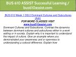 bus 610 assist successful learning bus610assist 4
