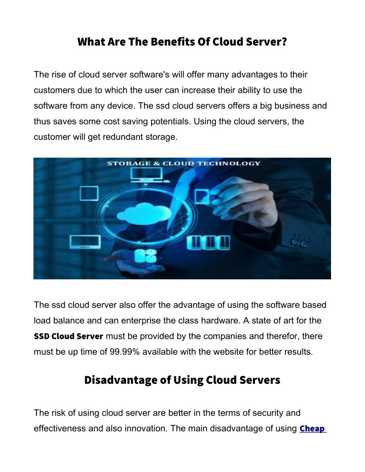 what are the benefits of cloud server n.