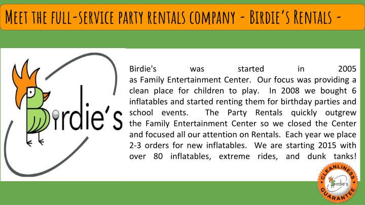 meet the full service party rentals company n.