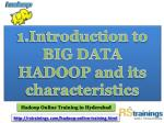 1 introduction to big data hadoop