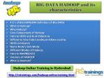 big data hadoop and its characteristics