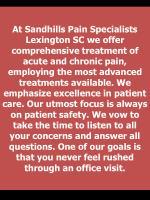 at sandhills pain specialists lexington