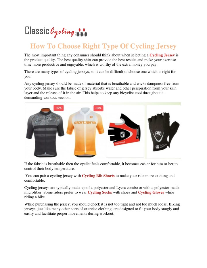 how to choose right type of cycling jersey n.