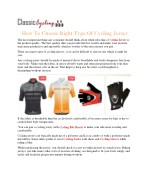 how to choose right type of cycling jersey