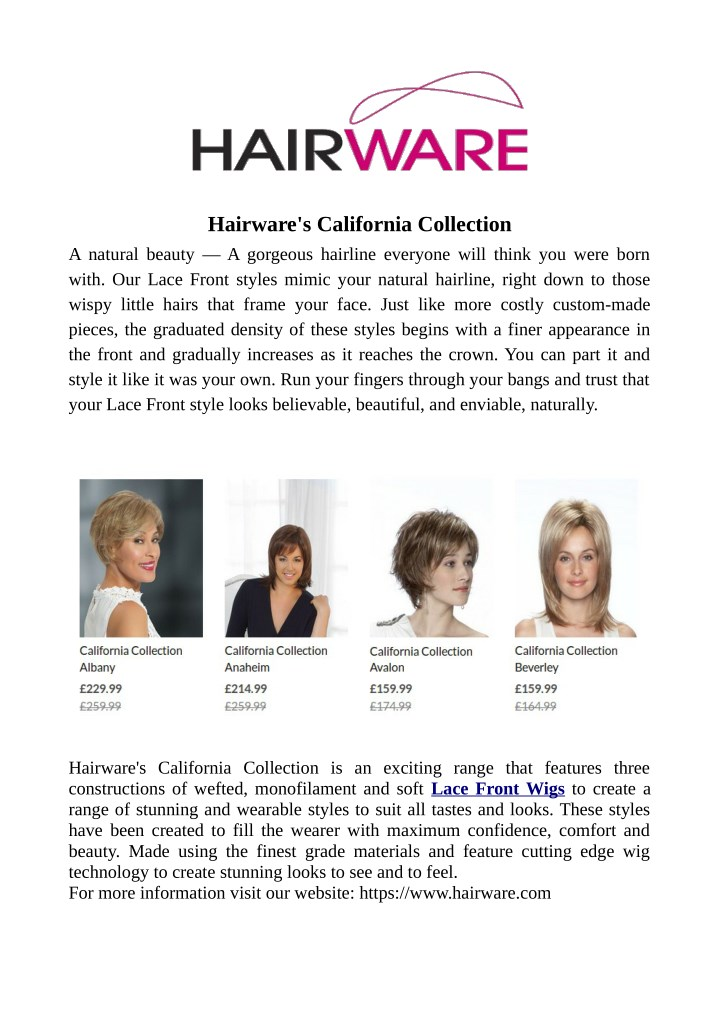 hairware s california collection a natural beauty n.