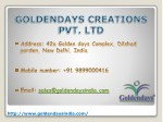 sales@goldendaysindia com