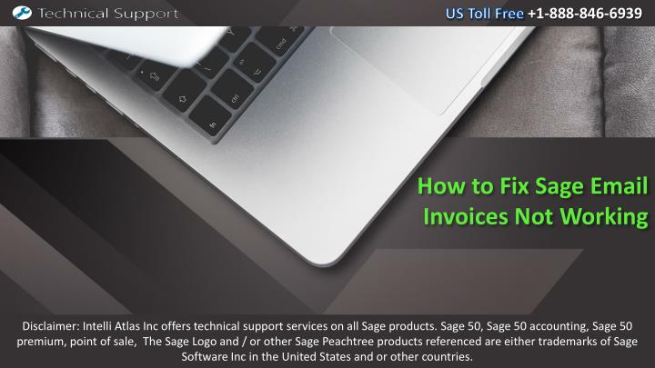 how to fix sage email invoices not working n.