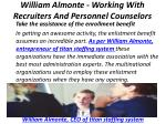 william almonte working with recruiters and personnel counselors 4