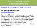 mat 222 edution on your terms tutorialrank com 1