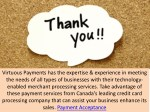 virtuous payments has the expertise experience