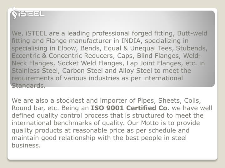 we isteel are a leading professional forged n.