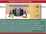 dedicated server hosting in s weden