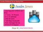 sweden dedicated server hosting plans