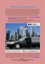 benefits of using limo services