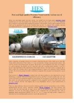 best and high quality pressure vessel