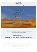 the omani law firm with international expertise